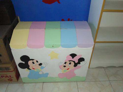 Baul De Minnie Mouse Para Niña Para Guardar Juguetes