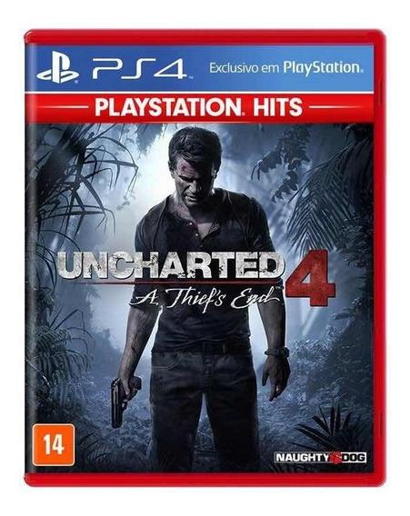 Jogo Uncharted 4 Mídia Física - Ps4