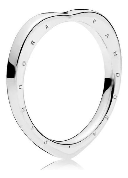 Anel Aliança Em Prata 925 Pandora Coração Muito Barato Arco