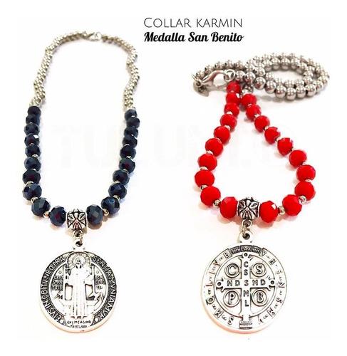 Collar Tulum Karmin Medalla San Benito