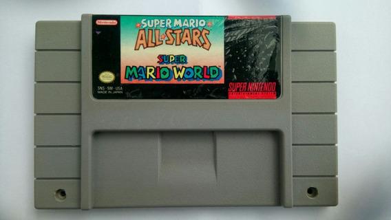 Carcaça Original Mario All Star + Super Mario World Snes