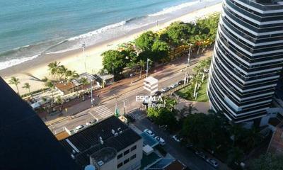 Flat Com 1 Quarto À Venda, 47 M² , Vista Mar, Mobiliado, Andar Alto - Meireles - Fortaleza/ce - Fl0043