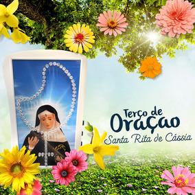 Terço Com Imagem Santa Rita De Cássia