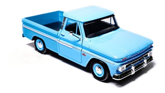 Miniatura Chevrolet Pickup C-10 Fleetside 1966 Azul 1/24