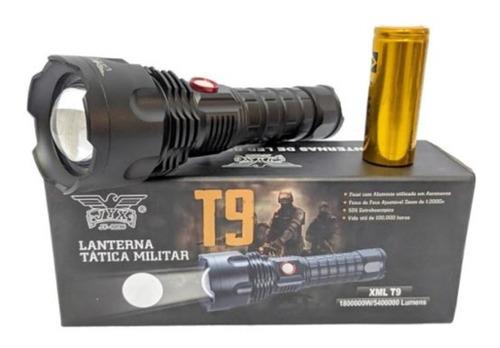 Lanterna Led Tática Militar T9 Usb Com Power Bank Jy-8896