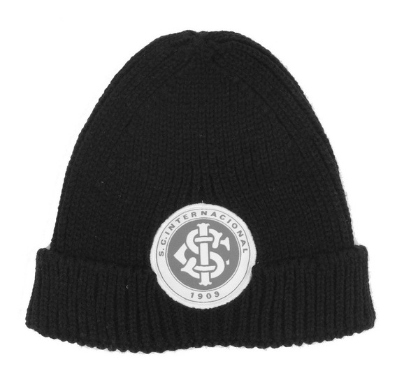 Gorro Inter Toca Internacional Preto Com Escudo Do Internacional Capuz Do Inter Bone Toca Do Internacional Preto