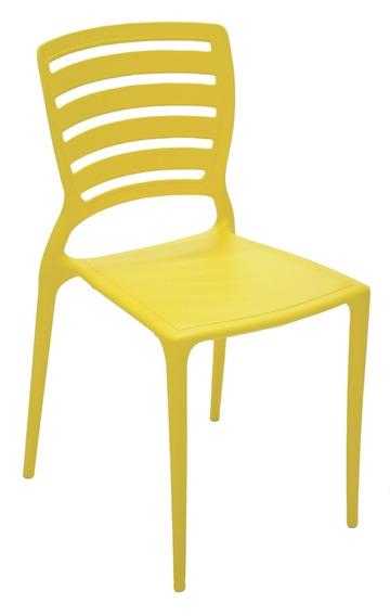 Cadeira Sofia Encosto Vazado Hz Amarelo