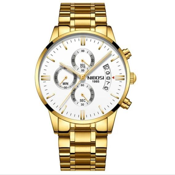 Relógio Blindado Nibosi Aço Original Importado Durabilidade