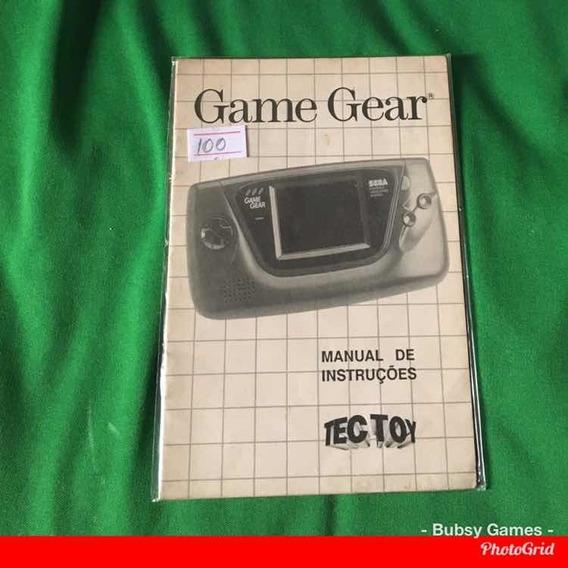 Game Gear Manual De Instruções -original