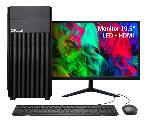 Pc Completo Fácil Intel I3 9100f 4gb Ssd 120gb Geforce 1gb