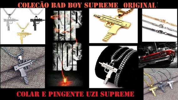 Colar Com Pingente Uzi Supreme Bed Boy Original Hip Hop