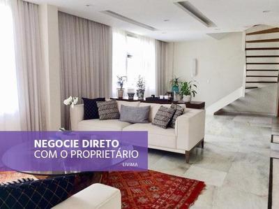 Cobertura Com 4 Dormitórios À Venda, 270 M² Por R$ 5.300.000 - Leblon - Rio De Janeiro/rj - Co0016