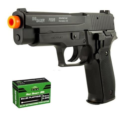 Imagem 1 de 5 de Pistola Airsoft Sig Sauer P226 Spring Slide Metal Cybergun