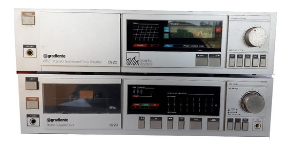 Som Antigo Gradiente Funcionando ,receiver E Tape Deck,