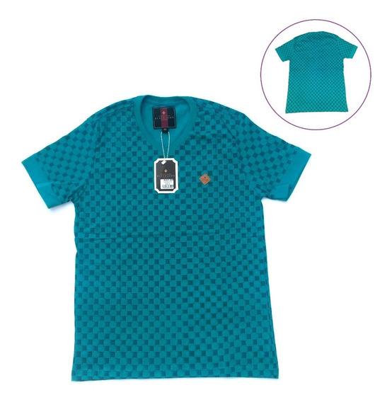 Blusa Masculina M Azul Petróleo Não Solta Tinta Tecido Macio
