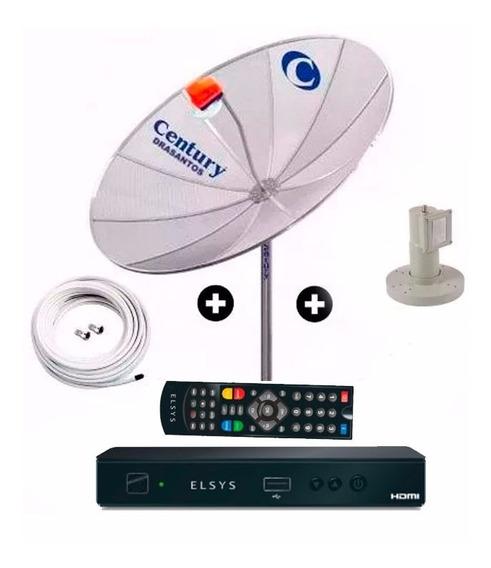 Antena Parabolica Telada Completa Receptor Anadigi Hd Elsys