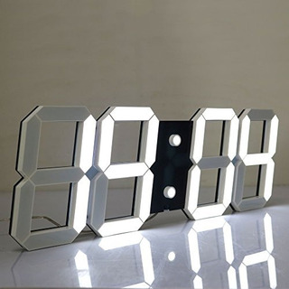 Reloj De Pared Digital Silencioso Y Multifuncional Led Jumbo