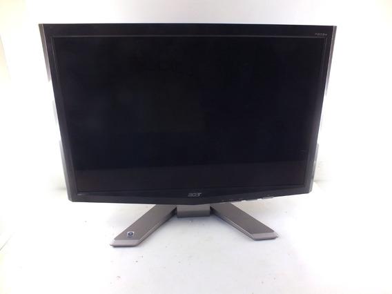 Monitor Lcd 20 Acer P203w Dvi Vga Defeito Tela Cortada A9968
