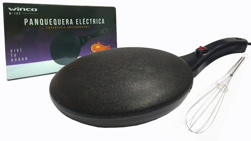 Imagen 1 de 5 de Panquequera Electrica Winco W102 Con Bowl Y Batidor 800w