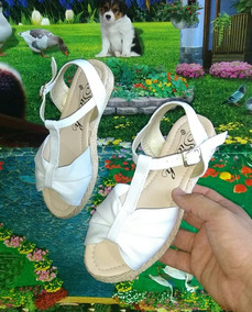 Calzado Sandalias Suela Yute Color Blanca Corbata Dama Moda