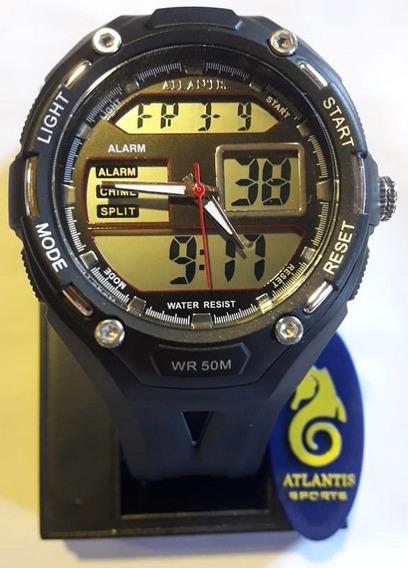 Relógio Digital Atlantis Preto - G7414
