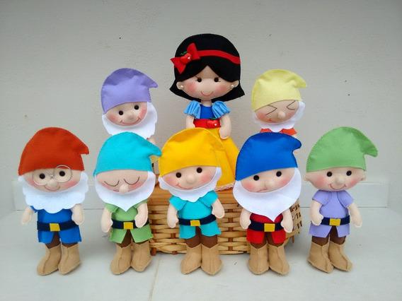 Kit Branca De Neve E Os 7 Anões Em Feltro - 8 Personagens