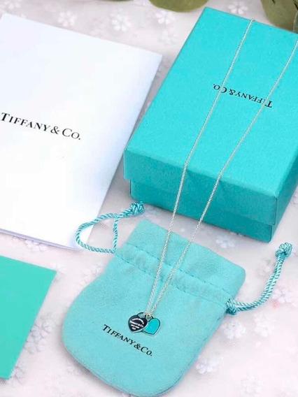 Colar Tiffany Mini Coração Verde, A Pronta Entrega! Prata925