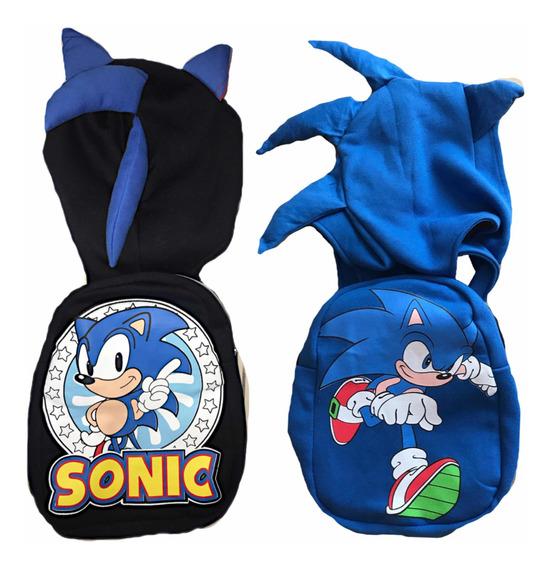 Mochila Capucha Sonic Frozen Minnie Skye Lisa