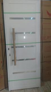 Porta Pivotante 210x110 L-30 Suprema C/ Guarnições De Brinde
