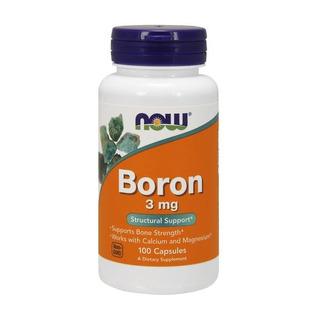Boro 3 Mg Now Foods 100 Cápsulas