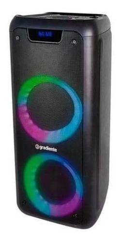 Caixa de som Gradiente Extreme Colors GCA201 portátil com bluetooth preta 110V/220V