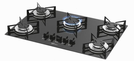 Fogão cooktop a gás Fischer 1642-6985 preto-ébano 110V/220V