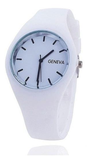 Relógio Feminino Pulso Pulseira Geneva Silicone