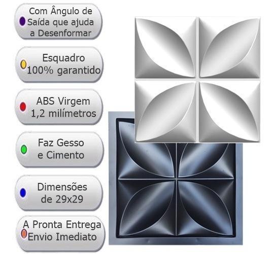 Forma De Gesso 3d E Cimento Fdg 119 Abs 1,2mm Roseira Oferta