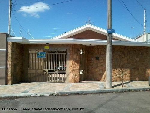 Casa Para Venda Em São Carlos, Vila Brasília, 4 Dormitórios, 2 Suítes, 3 Banheiros, 2 Vagas - Lc272_1-773717