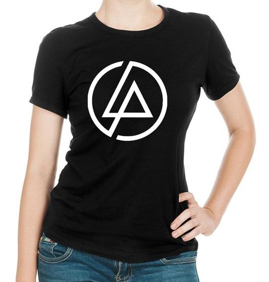 Linda Camiseta Dama Negra Linkin Park