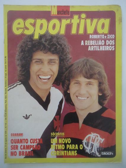 Manchete Esportiva #45 Com Poster Do Guarani Campeão De 1978