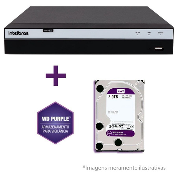 Dvr Stand Alone Intelbras Mhdx 3016 16 Canais Full 2-tb