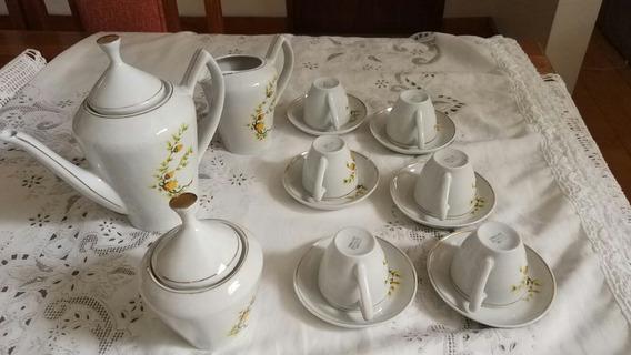 Jogo De Café Porcelana Antigo Pozzani (raro)