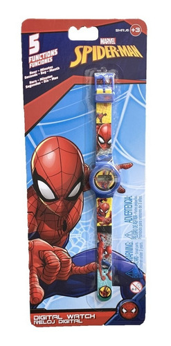 Reloj Digital Spiderman 5 Funciones Itm Smrj6 Loonytoys