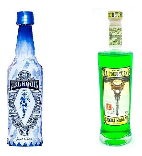 Imagen 1 de 1 de Combo Gin Arlequin + Absenta La Tour Verde 50° Con Estuche