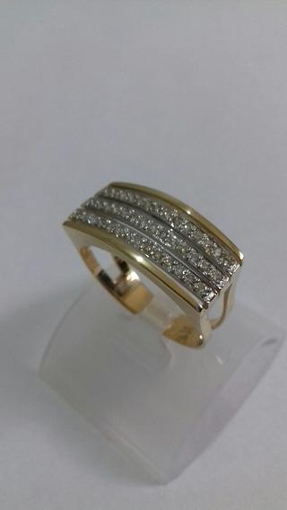 Anel De Brilhantes Amor De Mãe Ouro 18k /anel De Chapinha