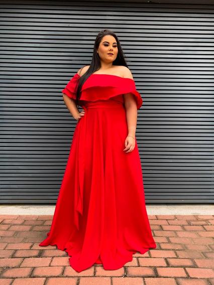 Vestido Longo Festa Vermelho Madrinha Casamento Formatura