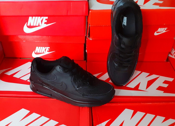 Zapatos Nike Air Max 90 Negro Completo Talla 39 (20$)