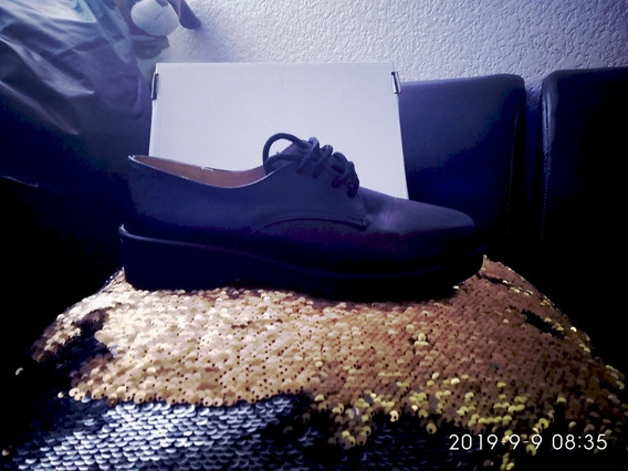 Zapatos De Piel Color Negro No. 6 *nuevos* Unisex Baratos.