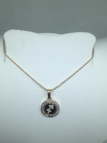 Collar Signo Zodiacal Chapa En Oro