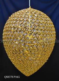 Lustre Design Classico Em Gota De Ouro Alta Qualidade