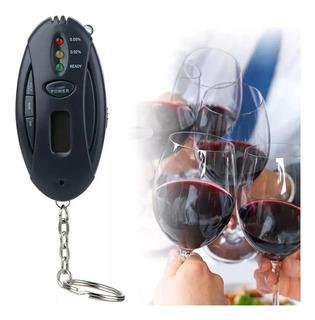 Mini Bafômetro Chaveiro Lcd Alcoolemia Cronômetro Lanterna