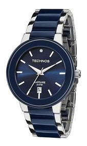Relógio Technos Feminino 2115krt/1a Vidro Safira Garantia