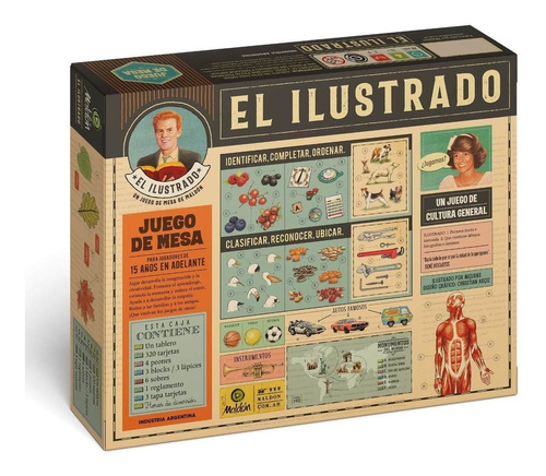 Imagen 1 de 3 de El Ilustrado Juego Mesa Maldón Cultura General Dibujos Logos